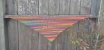 crochet shawl triangle shawl entrelac shawl nearly entrelac